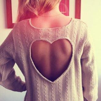 sweater clothes jumper knitted heart