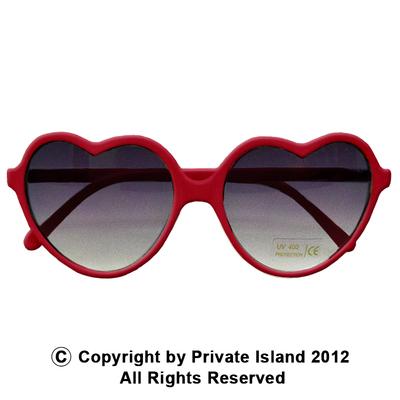 Red lolita heart shape sunglasses 1015