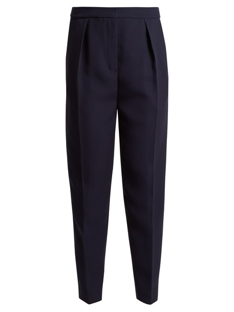 Roksanda high navy pants