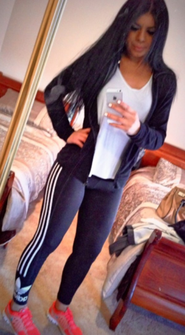 leggings adidas shoes jacket t-shirt
