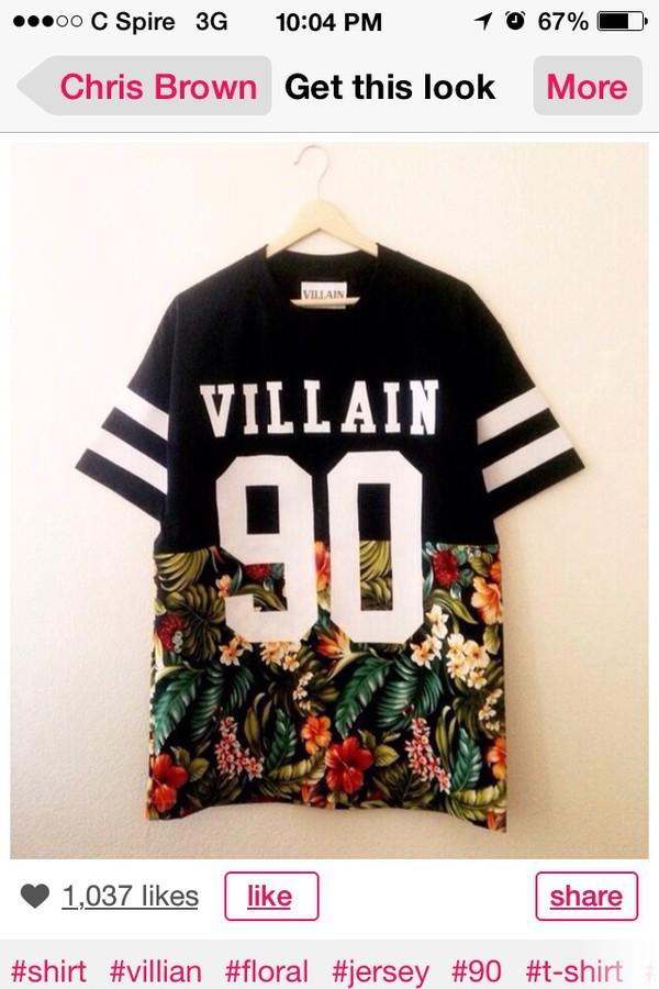 chris brown dope villan shirt