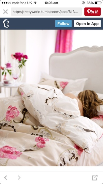 home accessory sleep floral bedding romantic