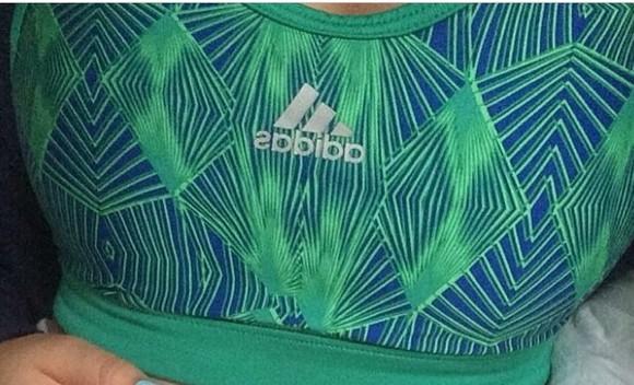 indie hipster underwear fitness sportswear sports bra tropical adidas