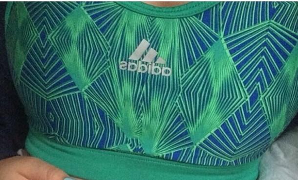 underwear fitness workout sports bra indie hipster tropical adidas