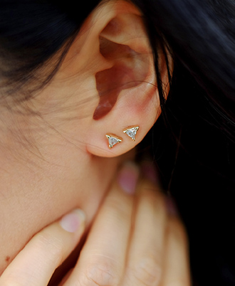 jewels ear piercings earrings diamonds