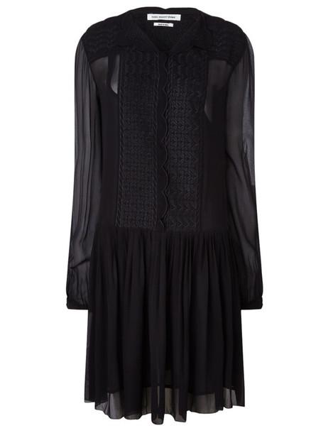 Isabel Marant etoile dress embroidered black