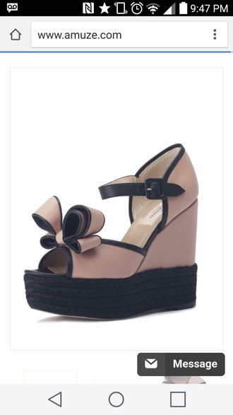 shoes valentino wedges bow wedges
