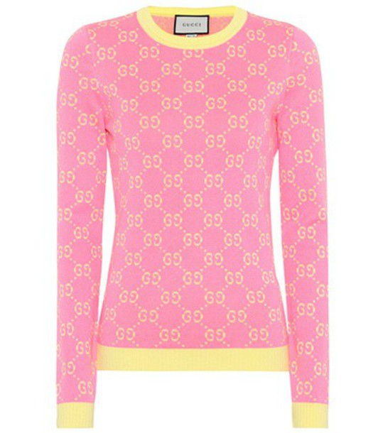 gucci sweater cotton pink