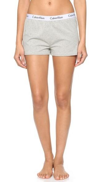 shorts sleep grey