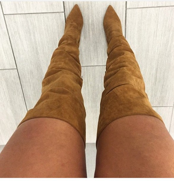 aff5561caee shoes boots fall outfits thigh high boots over the knee boots tan boots  suede boots