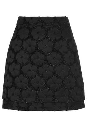 Black Fluffy Floral Pelmet Skirt - Skirts  - Clothing  - Topshop