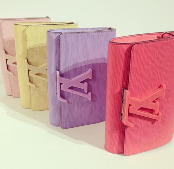 bag louis vuitton yellow pastel bag pink
