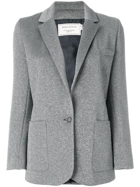 blazer women grey jacket