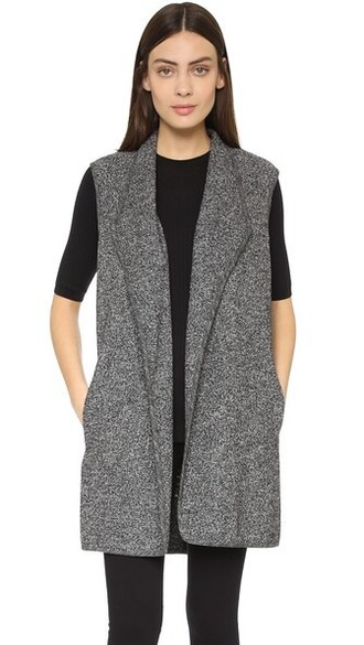 vest white black jacket