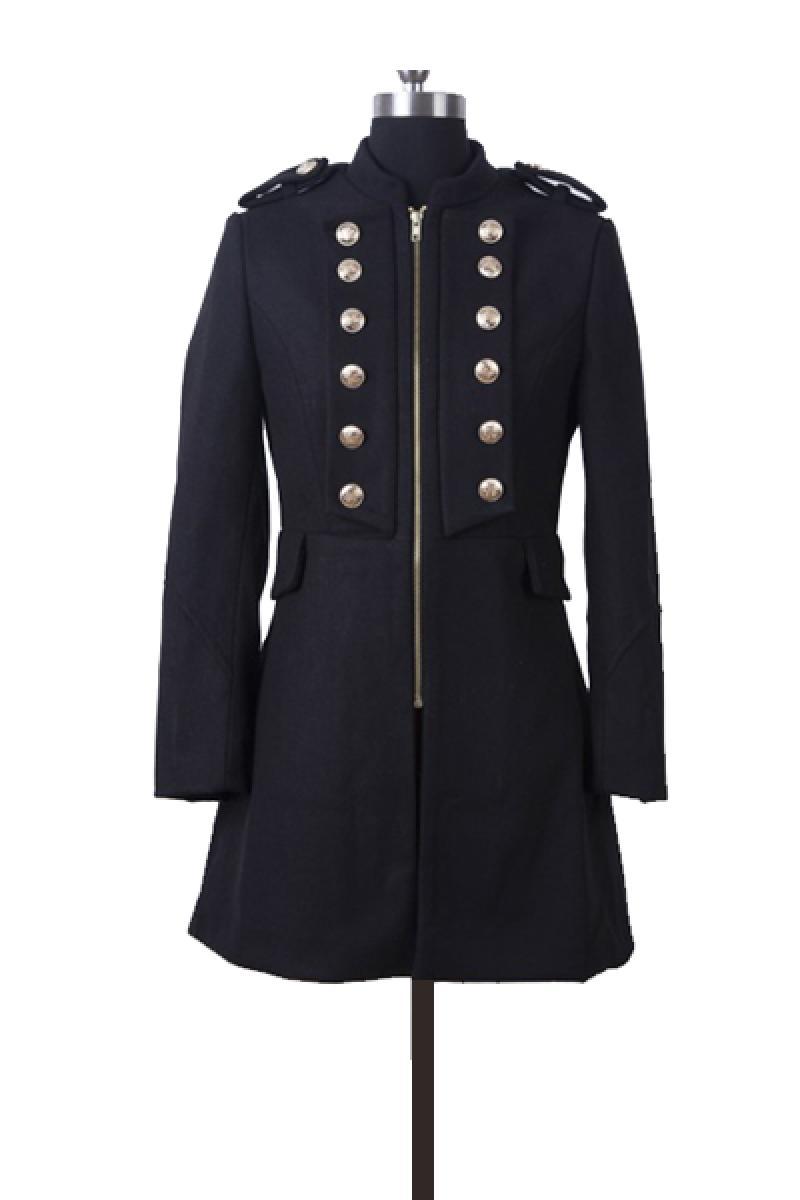 New Western Autumn & Winter Section Slim Woolen Overcoat,Cheap in Wendybox.com