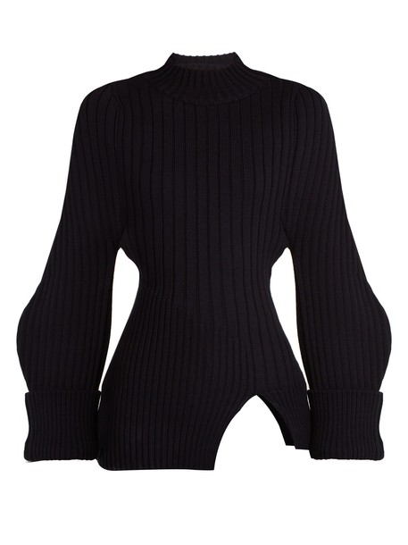 Jacquemus sweater wool sweater wool knit navy
