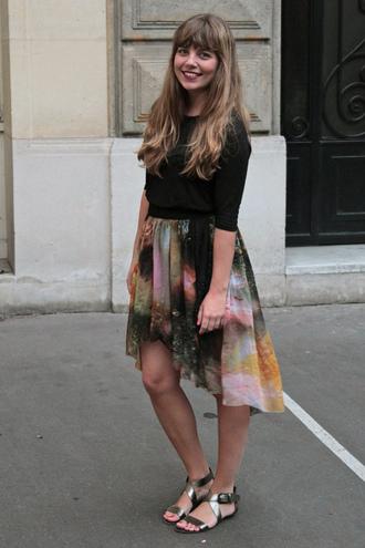 marion rocks interview video skirt blouse shoes shirt bag scarf dress