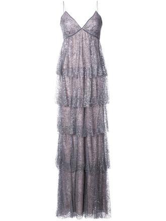 dress glitter women layered grey