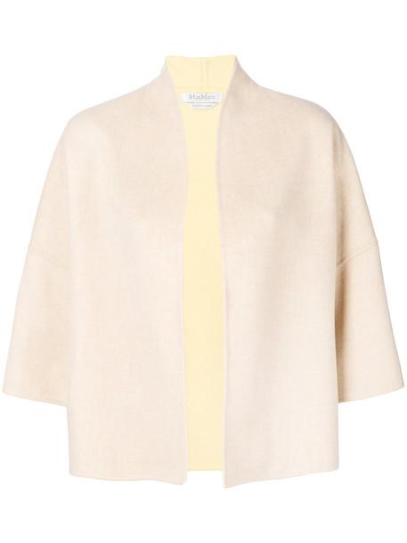 Max Mara jacket cropped women nude wool