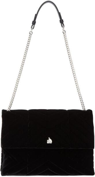 bag black velvet