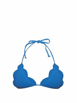 bikini bikini top triangle bikini triangle light blue light blue swimwear