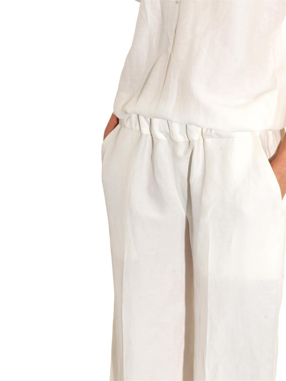Leg textured jumpsuit