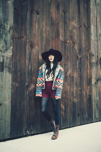 jag lever blogger jacket blouse felt hat navajo fall outfits boho jacket