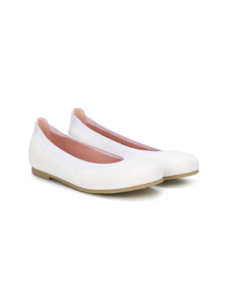 Pretty Ballerinas Kids classic shoes leather white