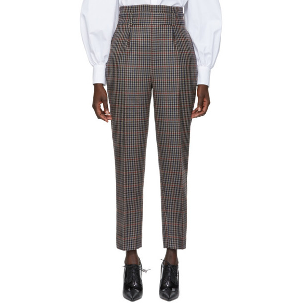 Erdem Multicolor Check Wool Trousers
