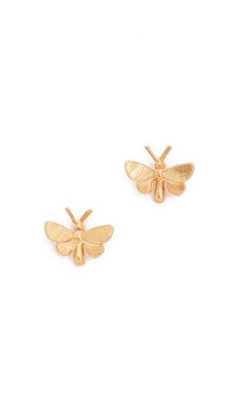 butterfly earrings stud earrings gold jewels