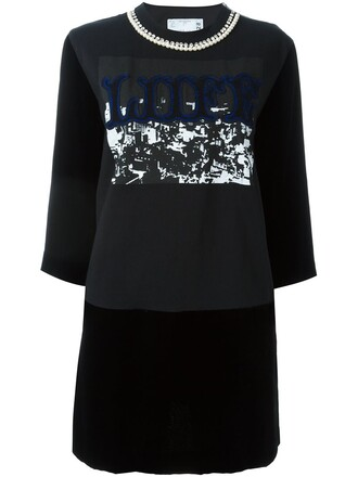 dress sweatshirt dress black