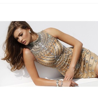 dress outfit sexy dress cute dress jewels accessories earrings diamonds gold sequins gold dress sequin dress style fashion