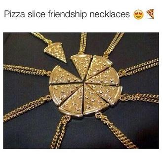 jewels pizza necklace friends