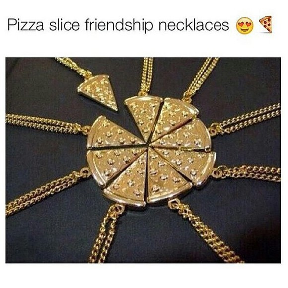 jewels friends pizza necklace