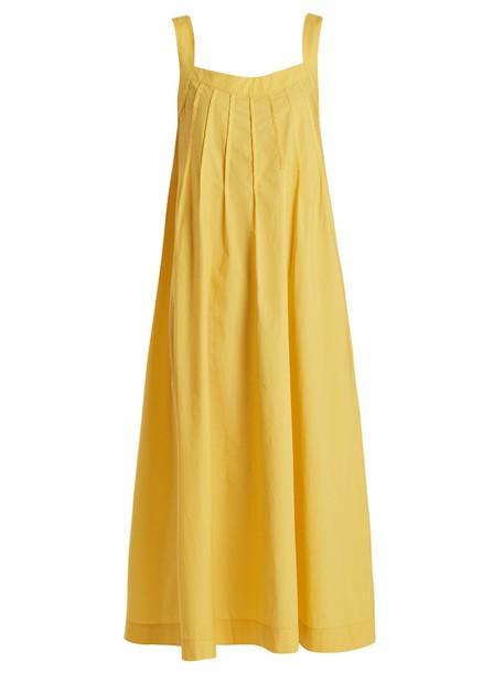 Three Graces London dress maxi dress maxi sleeveless cotton yellow