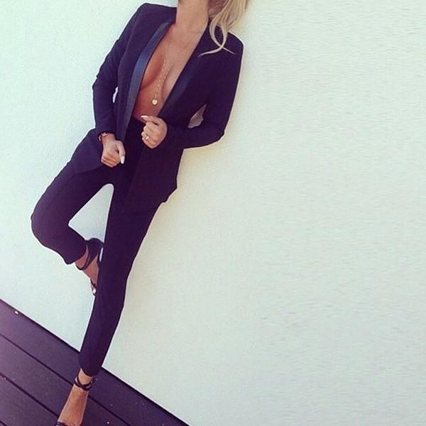 jacket suit black