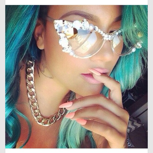sunglasses glasses jewels girly beautiful bling accessory