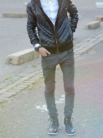 jeans grey dark pants skinny menswear mens jacket