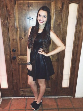 dress black leather little black dress lisa cimorelli lisa cimorelli short leather dress