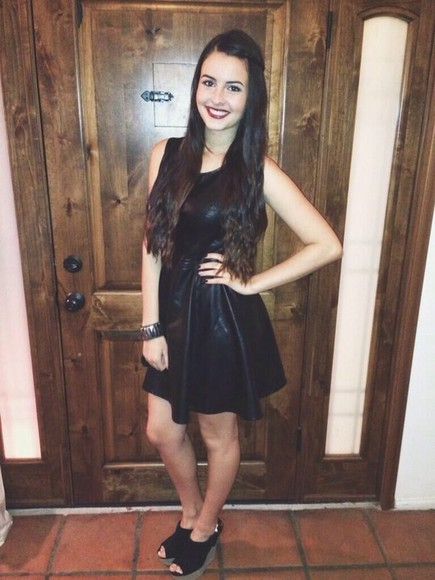 lisa black dress leather little black dress cimorelli lisa cimorelli short leather dress