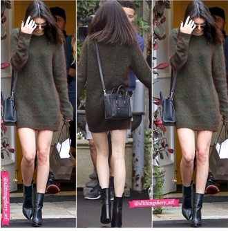 cardigan kendall jenner sweater dress