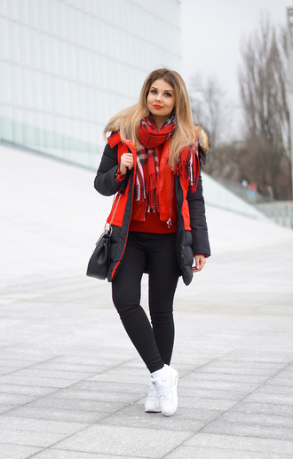 jacket scarf a piece of anna pants bag blogger jewels shoes