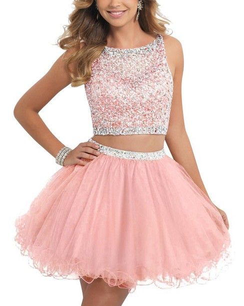 Pink short prom dresses cheap - Best Dressed