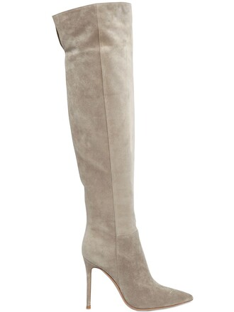 high knee high boots knee high boots suede beige shoes