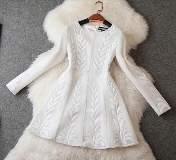 Dress white white dress christmas wheretoget
