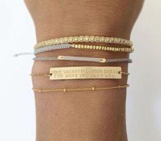 jewels braclets gold cute