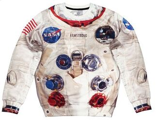 sweater printed sweater print astronaut suit apollo apollo 11 space suit space astronaut print fall sweater winter sweater clothes streetwear streetstyle fusion sdad