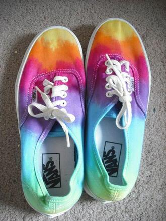 shoes vans vans off the wall vans authentic multicolor shoes summer shoes