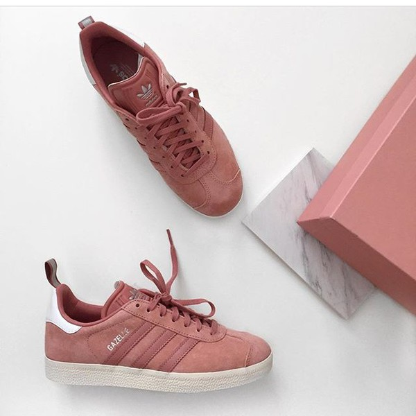 Chaussures, trainers, Baskets, Rose, adidas, Rose Baskets, Rose