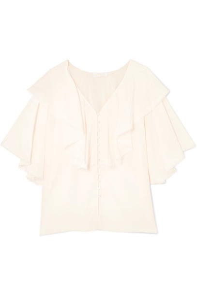 Chloe blouse silk cream top